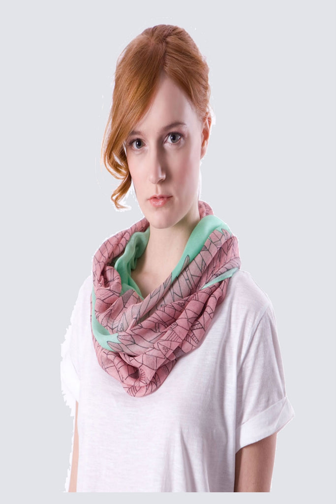 Isaura Feather Print Scarf