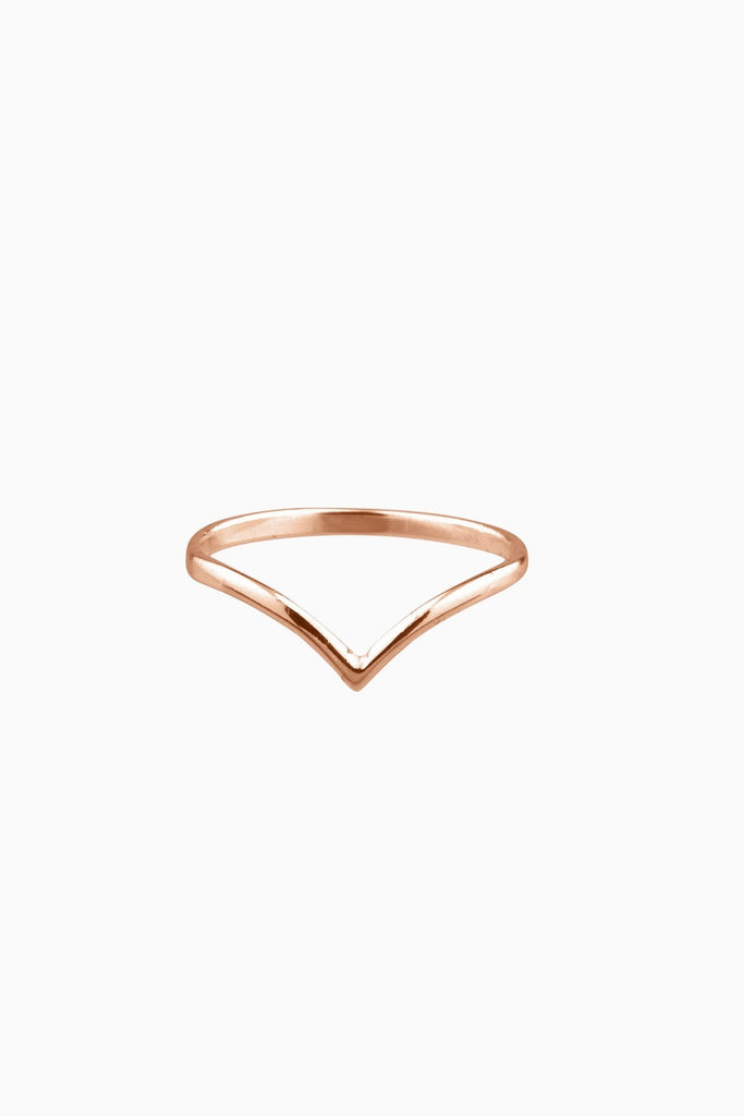 Dillon Rose Gold V-Shaped Ring