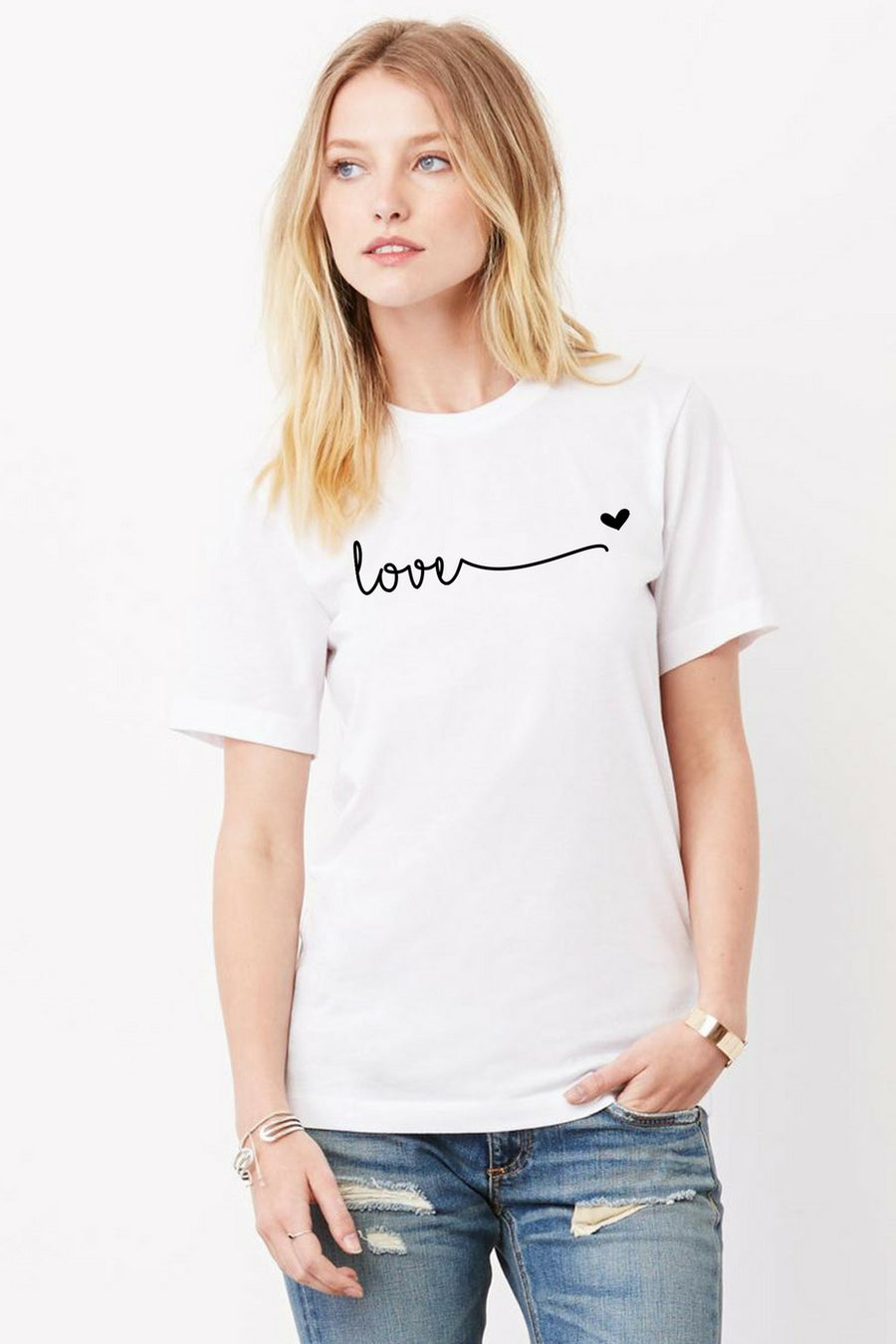 Six + Row Love Gray Tee