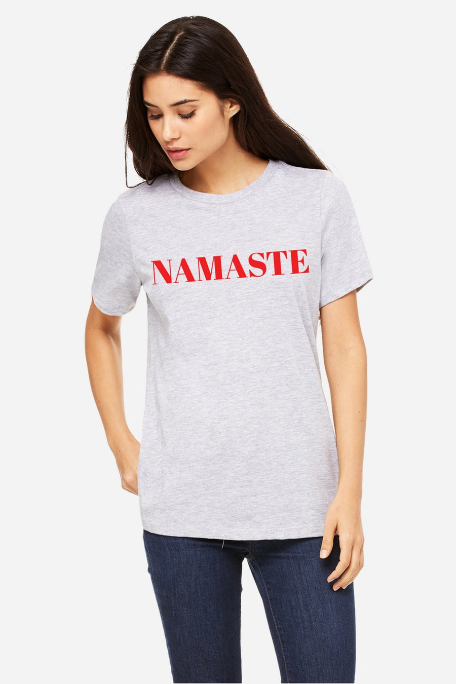 Six + Row Namaste Slogan White Tee