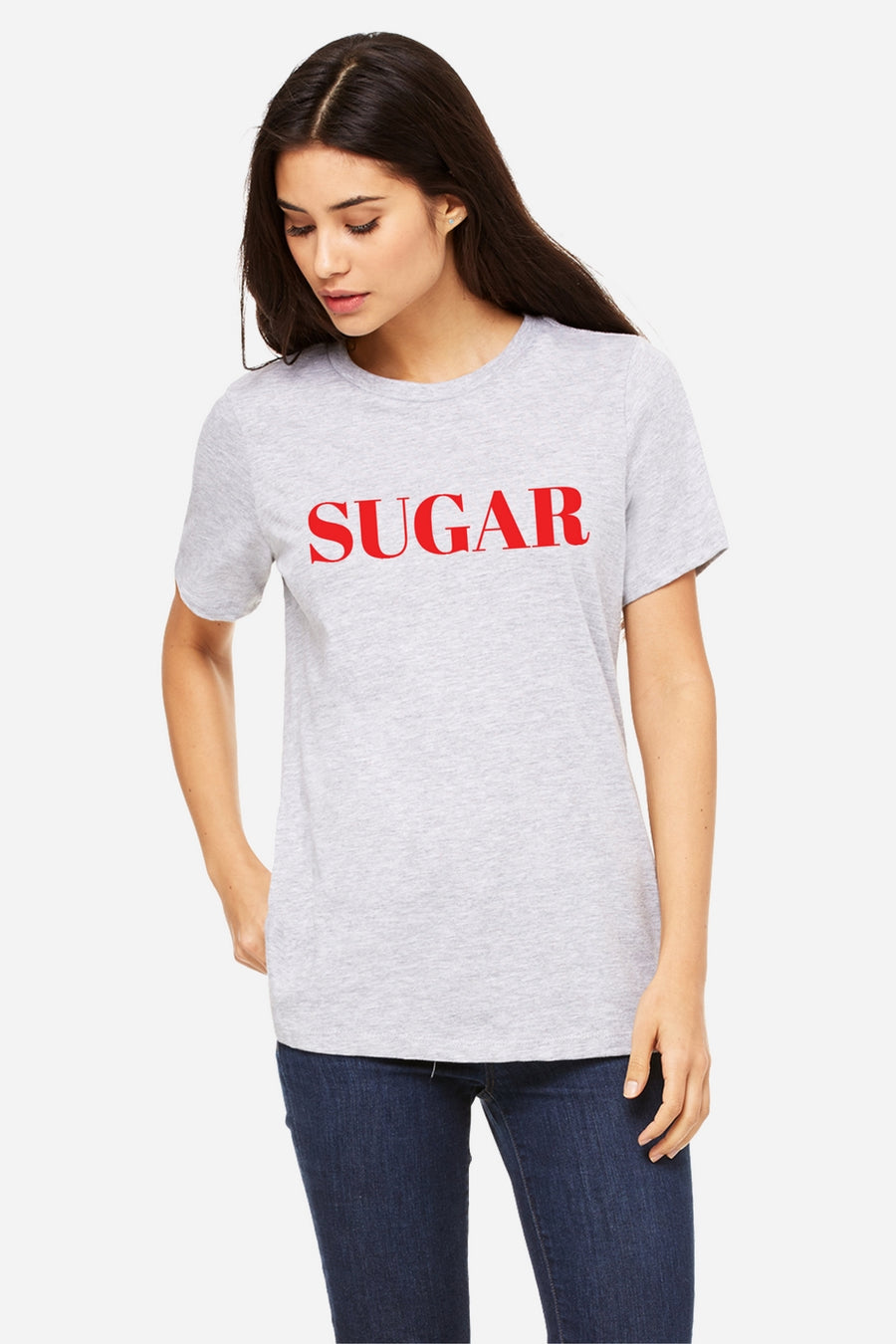 Six + Row Sugar Slogan White Tee