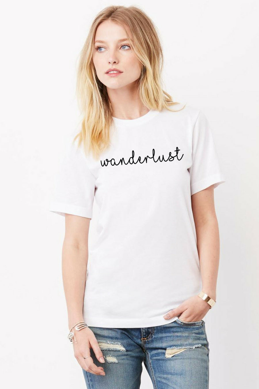 Six + Row Wanderlust Graphic Gray Tee