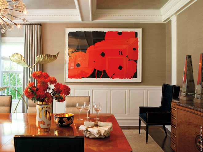 The Beauty of Contrast: Modern Art in Traditional Rooms