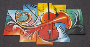 Painting Sample of Violin Musical Instruction Painting
