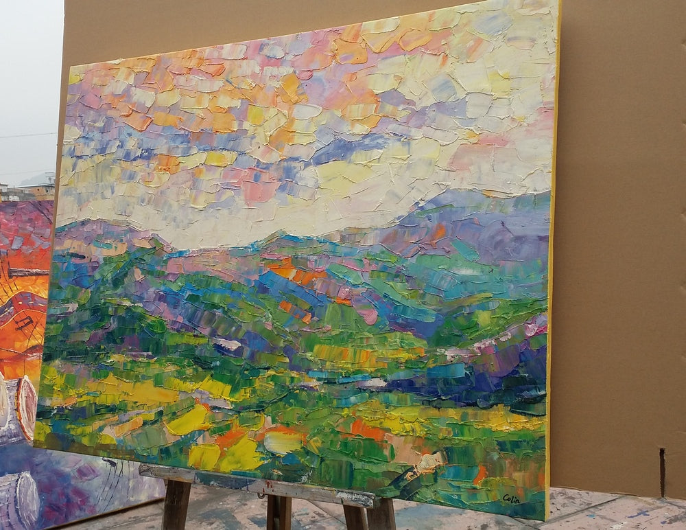 Buyer's Review on the Abstract Mountain Landscape Painting Received