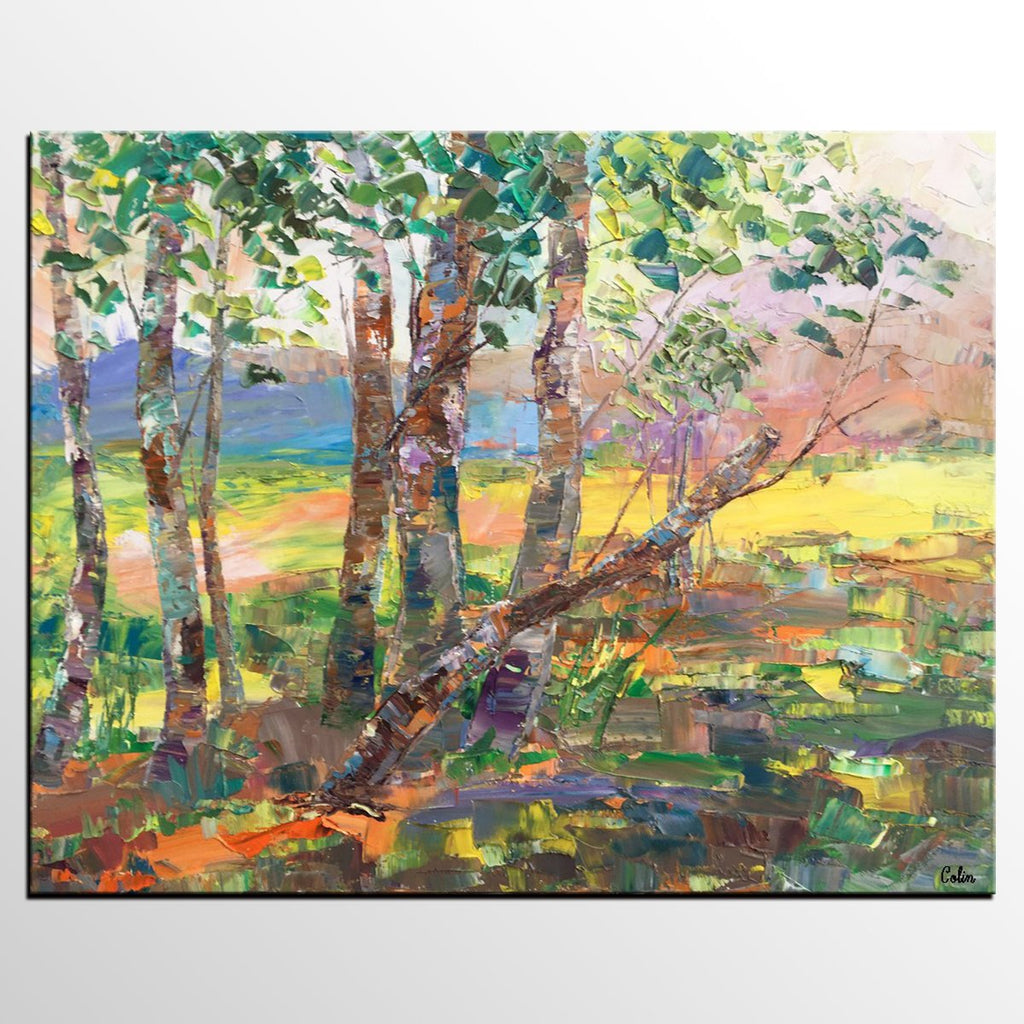 Buyer's Review on the Autumn Forest Tree Painting