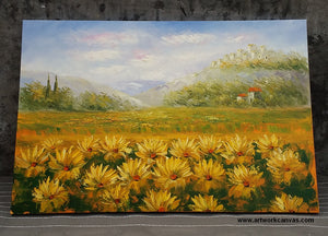 Painting Samples of Landscape Painting, Sunflower Painting, Original Oil Painting