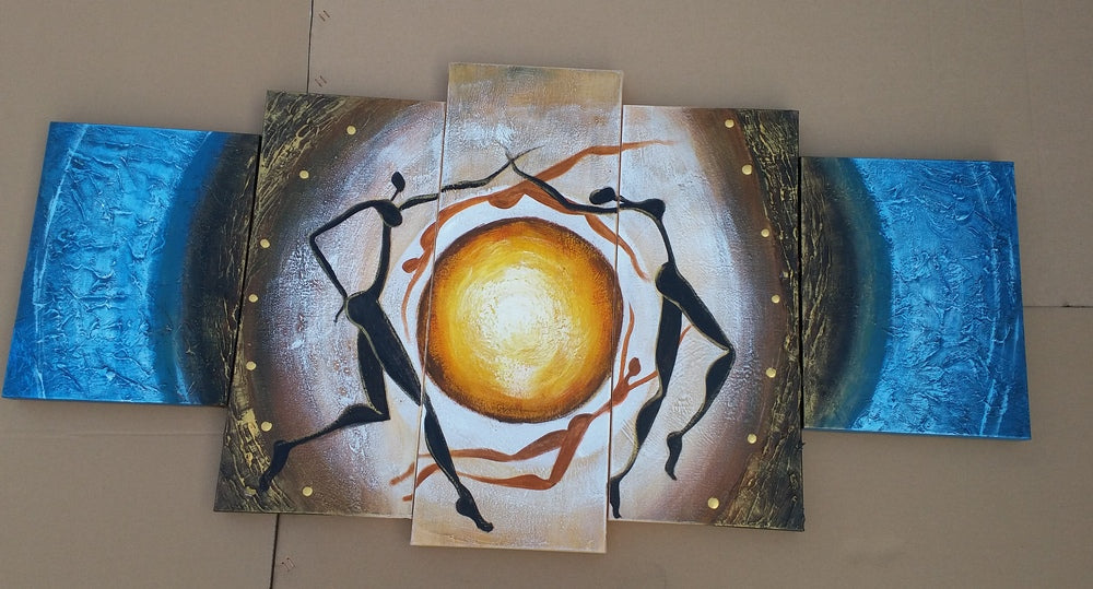 Painting Sample of 5 Panel Abstract Art