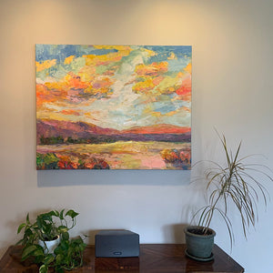 Buyer's Reviews on the Mountain and Sky Painting, Hand Painted Wall Art for Living Room