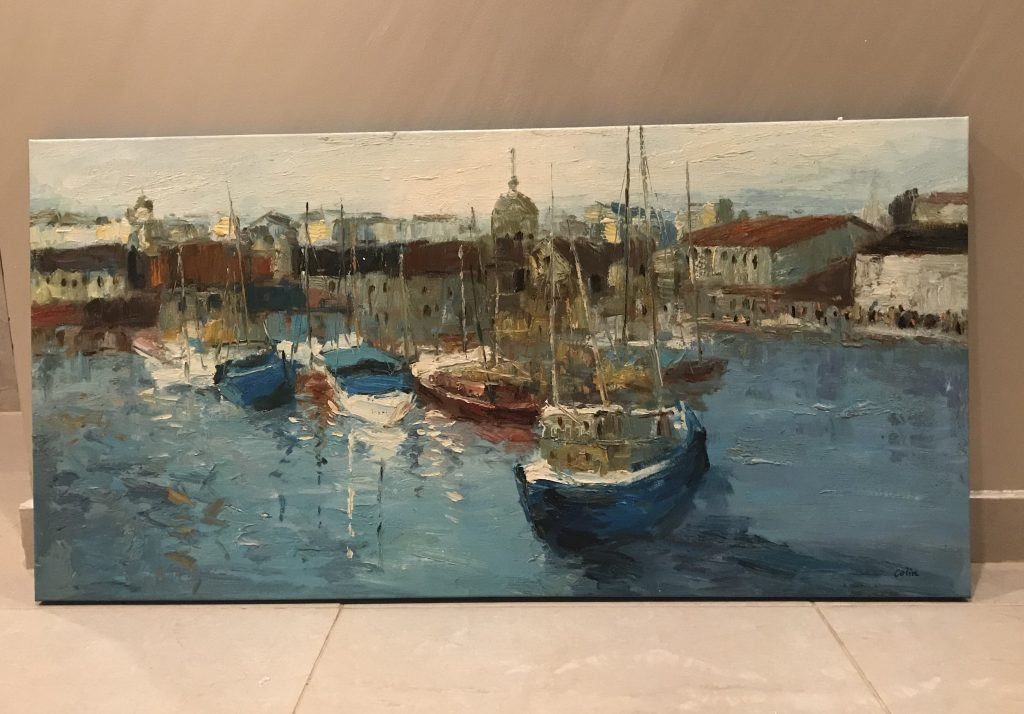 Buyer's Review on the Boat Painting Received