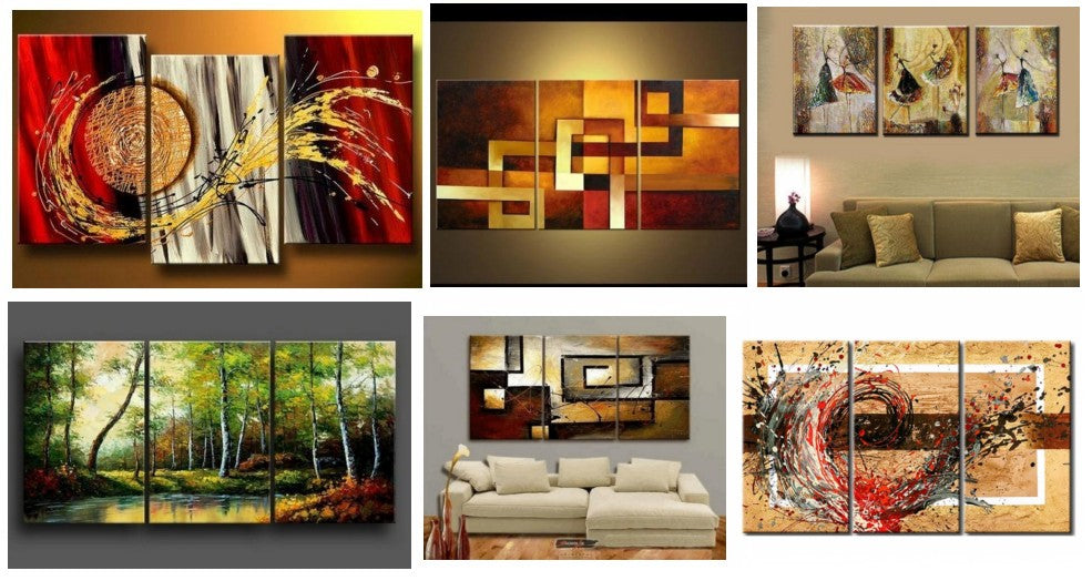 Paintings for Living Room, Wall Art Paintings, Modern Paintings for Bedroom, Acrylic Paintings for Living Room