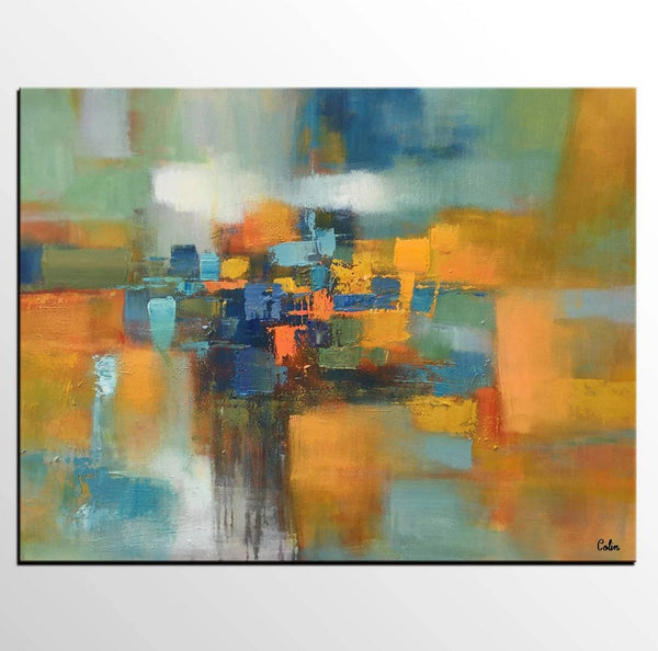 Heavy Texture Canvas Painting, Extra Large Painting, Huge Paintings, Original Oil Painting
