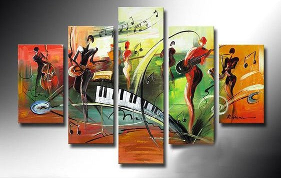 Music Painting, Modern Abstract Painting, Hand Painted Abstract Painting, Acrylic Painting on Canvas