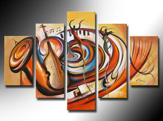 Hand Painted Canvas Painting, Music Painting, Large Abstract Painting, Acrylic Painting on Canvas