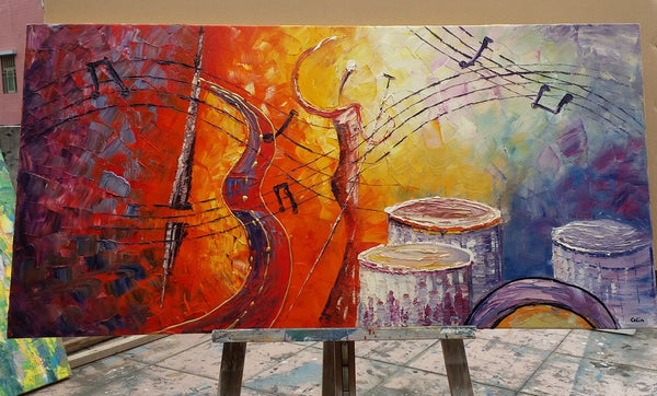 Abstract music violin painting