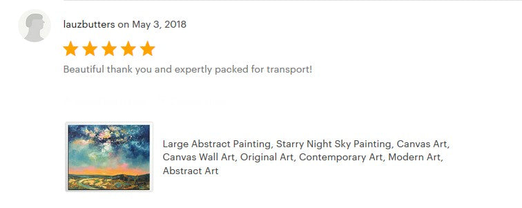 buyer's review on the starry night sky painting