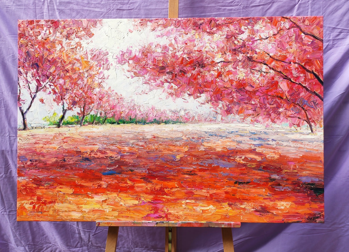 Forest Painting, Tree Paintings, Autumn Painting, Landscape Oil Paintings, Hand Painted Canvas Art, Original Paintings