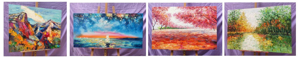 Original Paintings, Original Landscape Painting, Heavy Texture Painting, Hand Painted Wall Painting