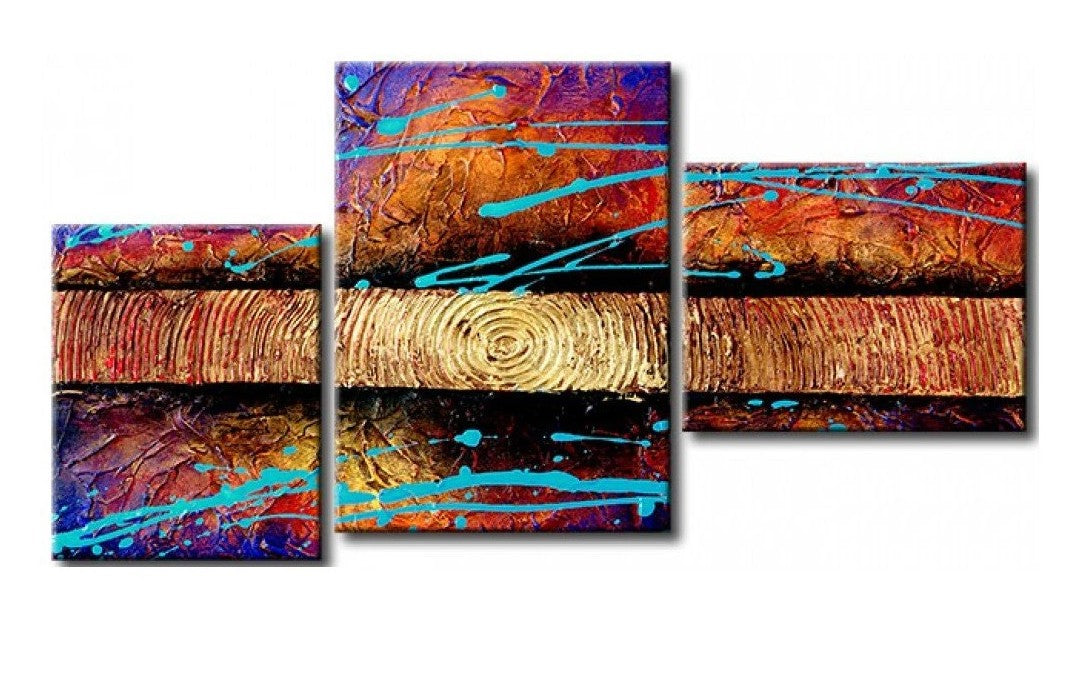 Texture Painting, 3 Piece Wall Art, Abstract Acrylic Paintings, Hand Painted Artwork, Acrylic Painting Abstract