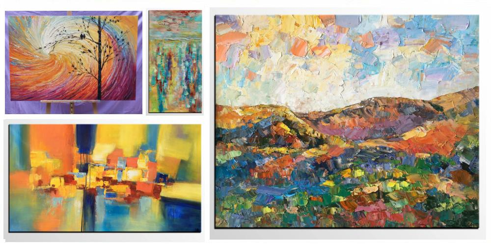 Abstract Landscape Paintings, Paintings for Living Room, Abstract Canvas Paintings, Contemporary Abstract Paintings, Large Abstract Paintings for Living Room, Heavy Texture Paintings