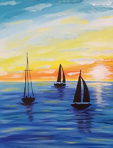 40 Easy Landscape Painting Ideas, Easy Painting Ideas for Kids, Easy Acrylic Painting on Canvas, Simple Painting Ideas for Beginners, Easy Sail Boat Wall Art Paintings