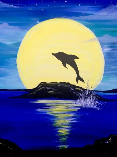 40 Easy Landscape Painting Ideas, Easy Painting Ideas for Kids, Easy Acrylic Painting on Canvas, Simple Painting Ideas for Beginners, Easy Dolphin Wall Art Paintings