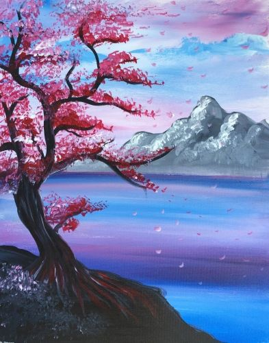 40 Easy Landscape Painting Ideas, Easy Painting Ideas for Kids, Easy Acrylic Painting on Canvas, Simple Painting Ideas for Beginners, Easy Tree Wall Art Paintings