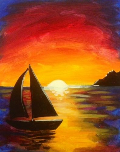 40 Easy Painting Ideas for Beginners, Simple Painting Ideas for Kids, Easy Acrylic Painting on Canvas, Easy Landscape Painting Ideas, Easy Boat Wall Art Paintings