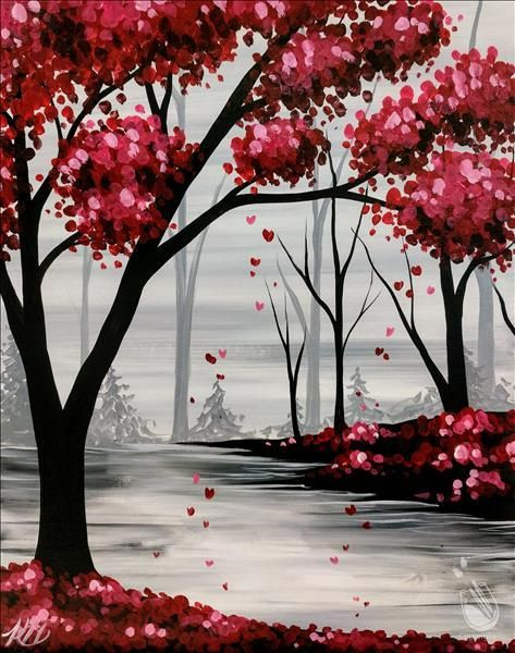 40 Easy Painting Ideas for Kids, Easy Acrylic Painting on Canvas, Easy Landscape Painting Ideas,  Simple Painting Ideas for Beginners, Easy Forest Tree Wall Art Paintings