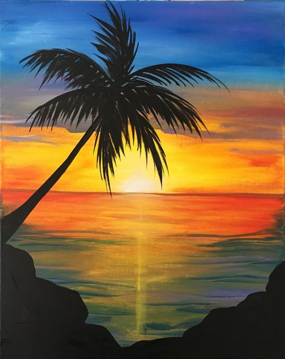 50 Easy Painting Ideas for Beginners, Simple Painting Ideas for Kids, Easy Acrylic Painting on Canvas, Easy Sunrise Landscape Painting Ideas, Easy Abstract Wall Art Paintings