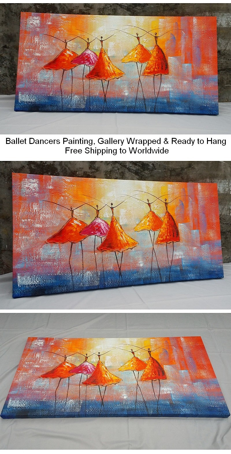 Ballet Dancer Painting, Acrylic Painting, Abstract Art Painting