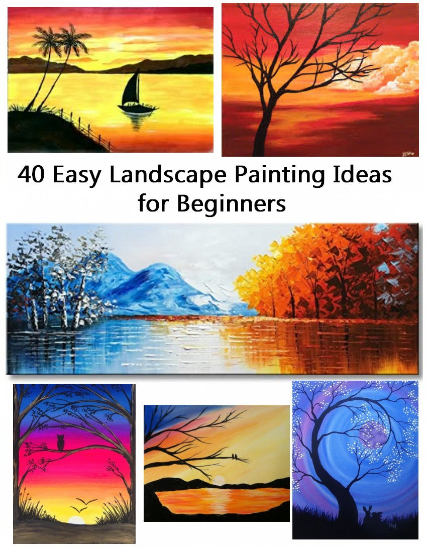 40 Easy Landscape Painting Ideas, Easy Modern Painting Ideas for Beginners, Simple Acrylic Painting Ideas for Beginners, Easy Canvas Painting Ideas
