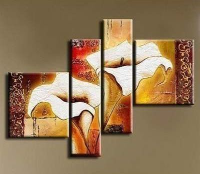 Calla Lily Flower Painting, Acrylic Flower Painting, Acrylic Paintings for Bedroom, Hand Painted Canvas Painting