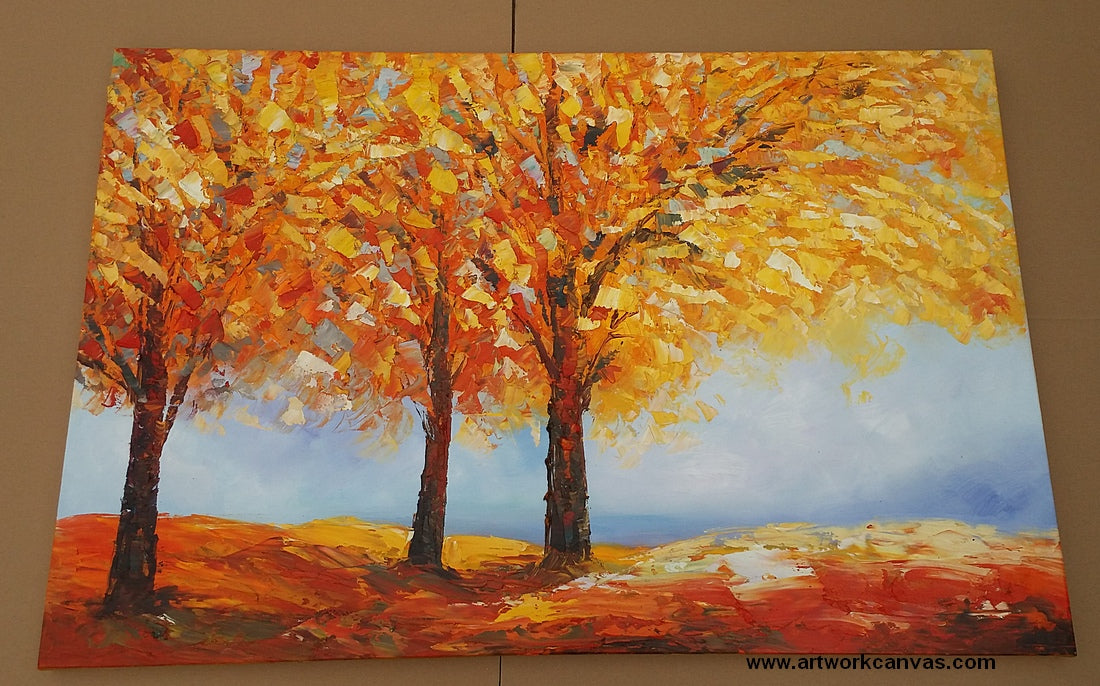 autumn forest, hand painted art from artworkcanvas.com
