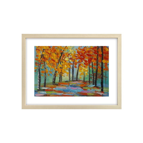 Small Painting, Autumn Tree Painting, Canvas Painting, Heavy Texture Oil Painting - artworkcanvas