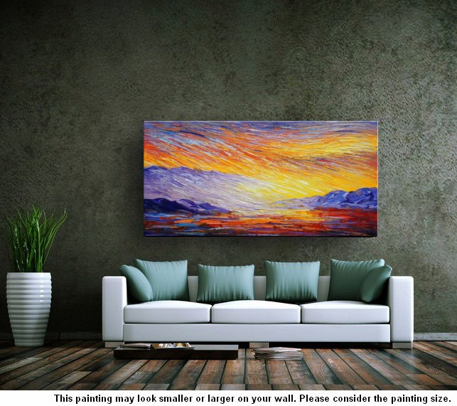 Abstract Landscape Painting, Large Canvas A...