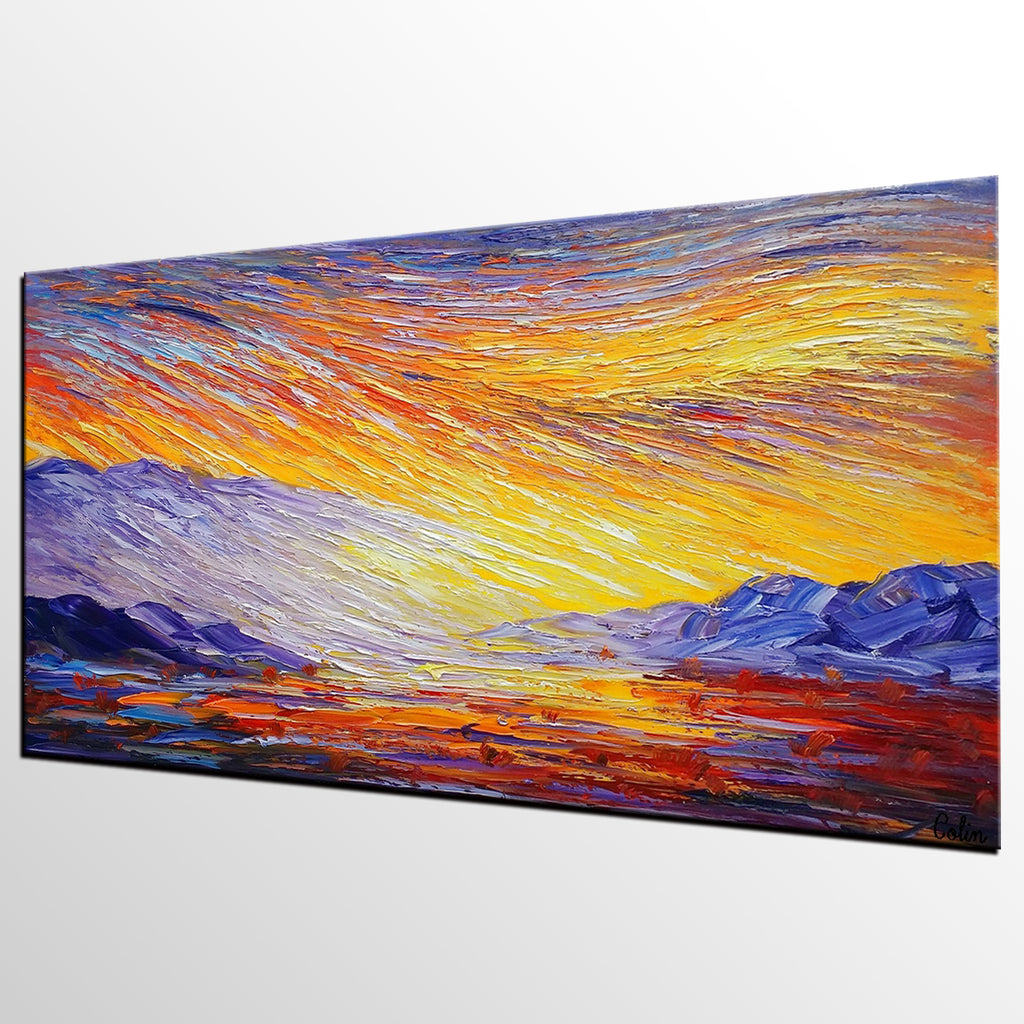Abstract Landscape Painting, Large Canvas Art, Wall Art, Original ...