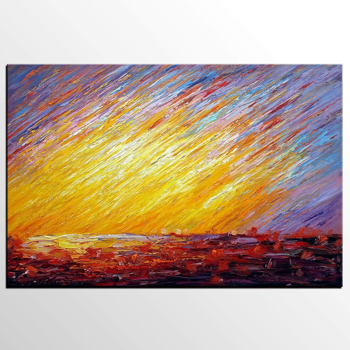 Landscape Painting, Canvas Art, Wall Art, O...
