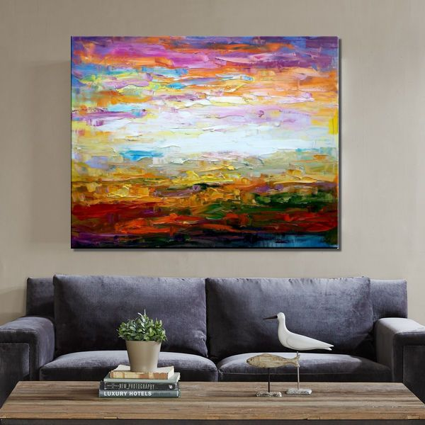 Canvas Painting, Impasto Art, Landscape Painting, Canvas Art, Wall Art, Original Artwork, Modern Art - artworkcanvas