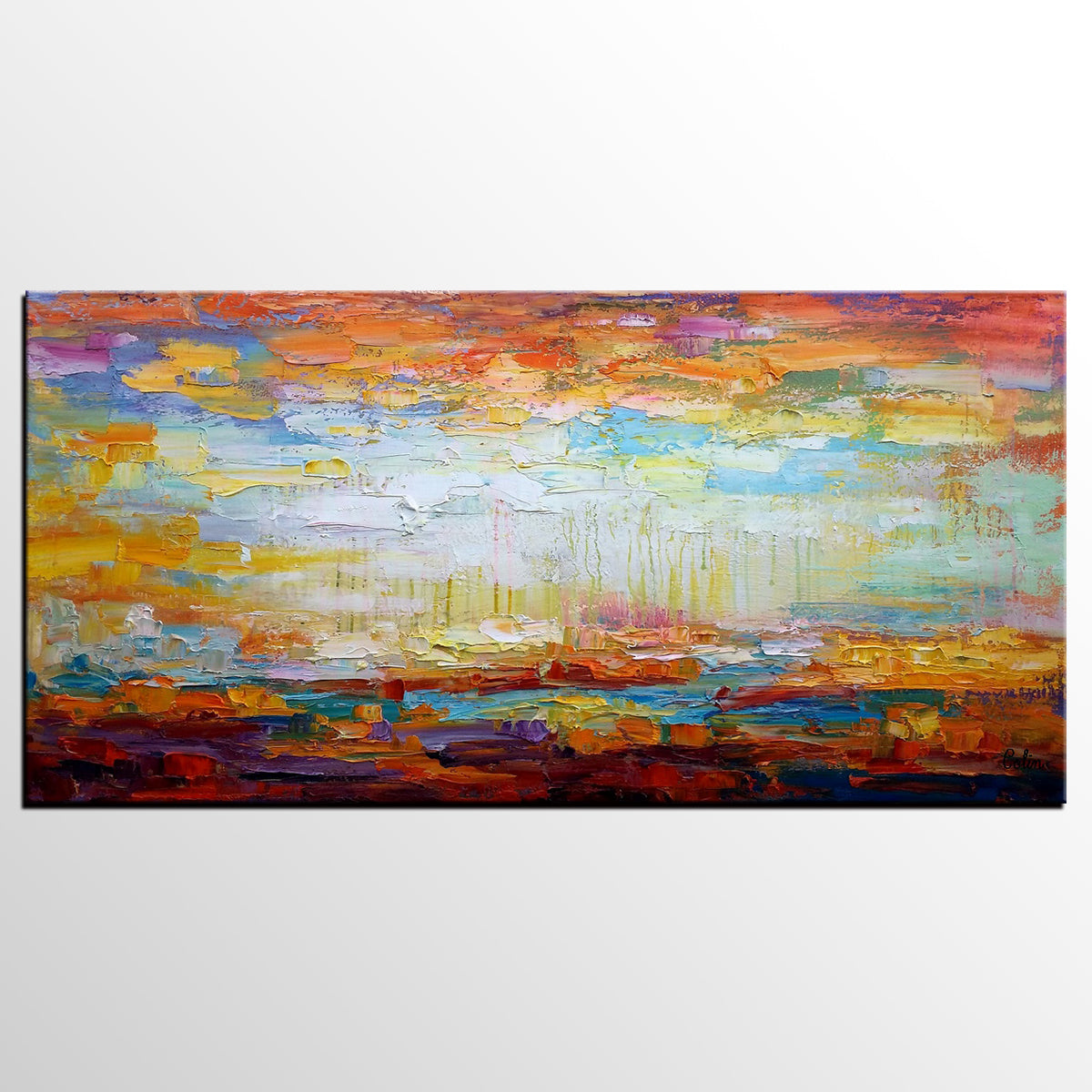 Heavy Texture Art, Abstract Painting, Lands...
