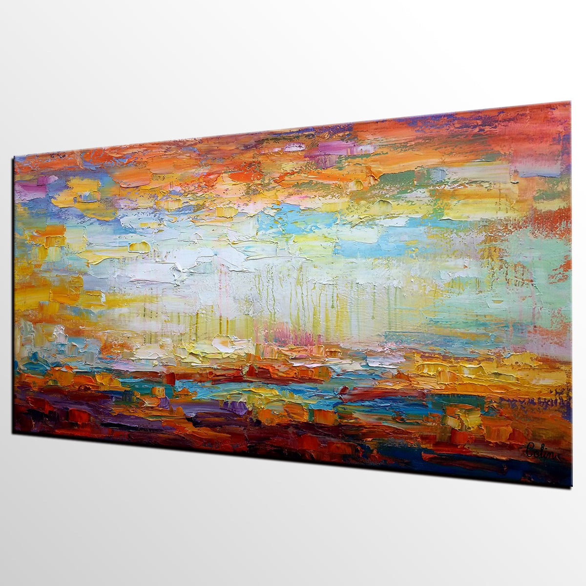 Heavy Texture Art, Abstract Painting, Landscape Painting, Original Artwork, Canvas Painting
