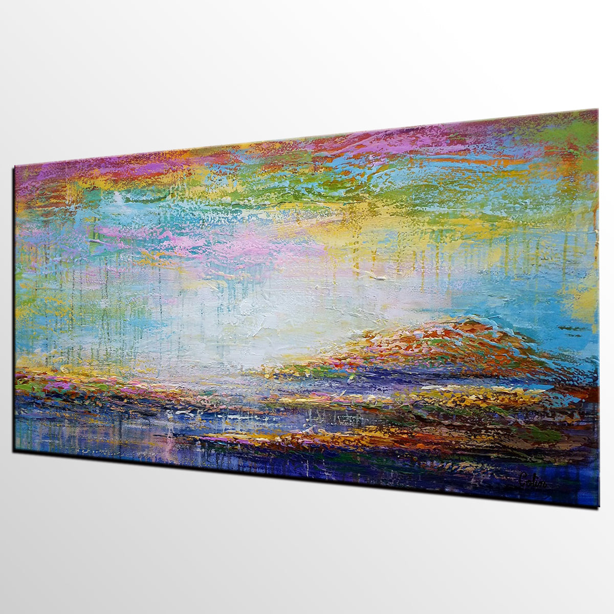 Large Wall Art, Original Painting, Landscape Painting, Large Art, Canvas Art, Wall Art, Original Artwork, Canvas Painting, Modern Art, Acrylic Painting 134