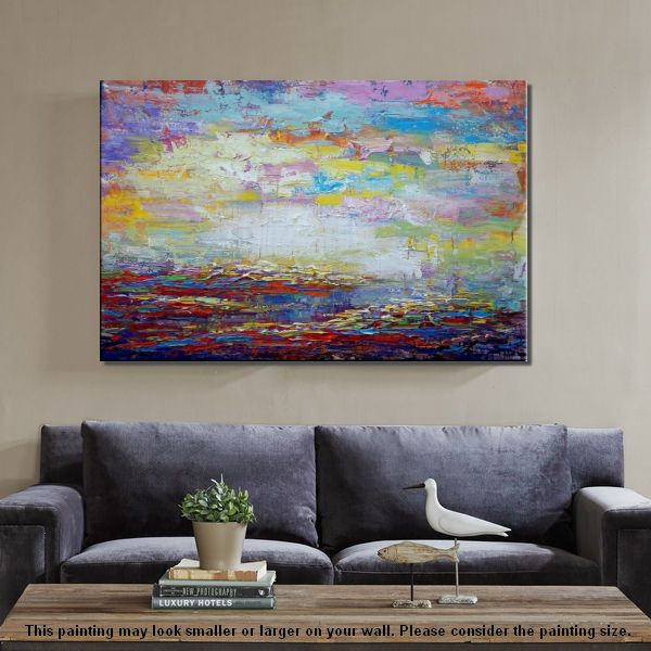 Original Wall Art, Abstract Landscape Painting, Large Art, Canvas Art, Wall Art, Living Room Art, Canvas Painting, Contemporary Art 135 - artworkcanvas