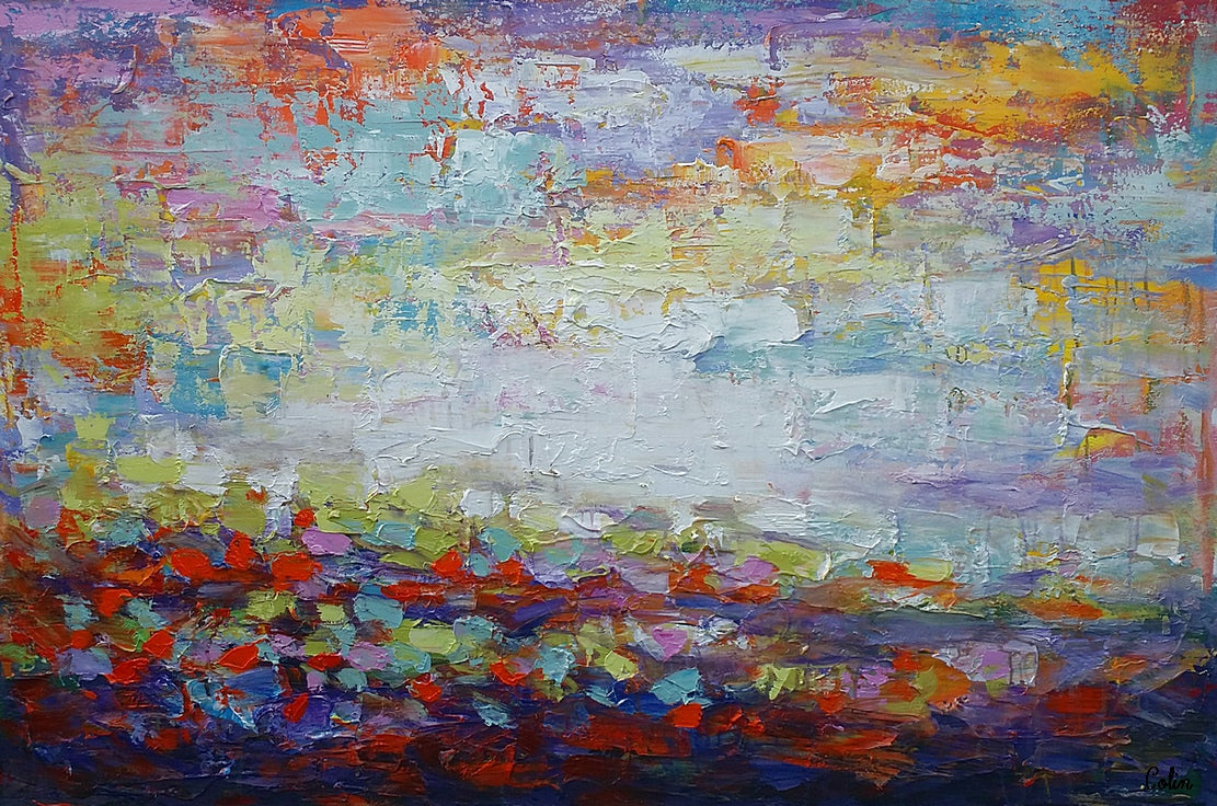 Original Wall Art, Abstract Landscape Painting, Large Art, Canvas Art, Wall Art, Original Artwork, Canvas Painting, Art Painting, Frame Art 136