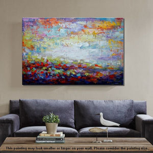 Original Wall Art, Abstract Landscape Painting, Large Art, Canvas Art, Wall Art, Original Artwork, Canvas Painting, Art Painting, Frame Art 136 - artworkcanvas
