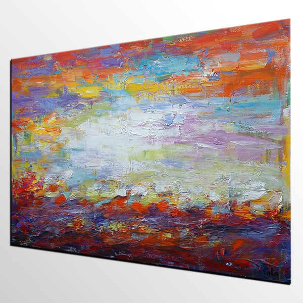 Large Art, Original Painting, Abstract Landscape Painting, Large Art, Canvas Art, Wall Art, Original Artwork, Canvas Painting, Ready to Hang Art 137 - artworkcanvas