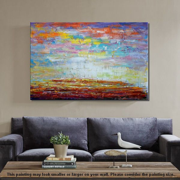Original Wall Art, Large Art, Canvas Art, Abstract Landscape Painting, Wall Art, Original Art, Artwork, Canvas Painting, Oil on Canvas 138
