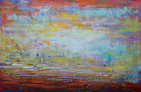 Canvas Art, Original Art, Abstract Landscape Painting, Large Art, Canvas Art, Wall Art, Original Artwork, Canvas Painting, Contemporary Art 140 - artworkcanvas