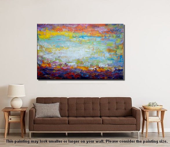 Wall Painting, Original Art, Landscape Painting, Large Art, Canvas Art, Wall Art, Original Artwork, Canvas Painting, Abstract Art, Art on Canvas 146