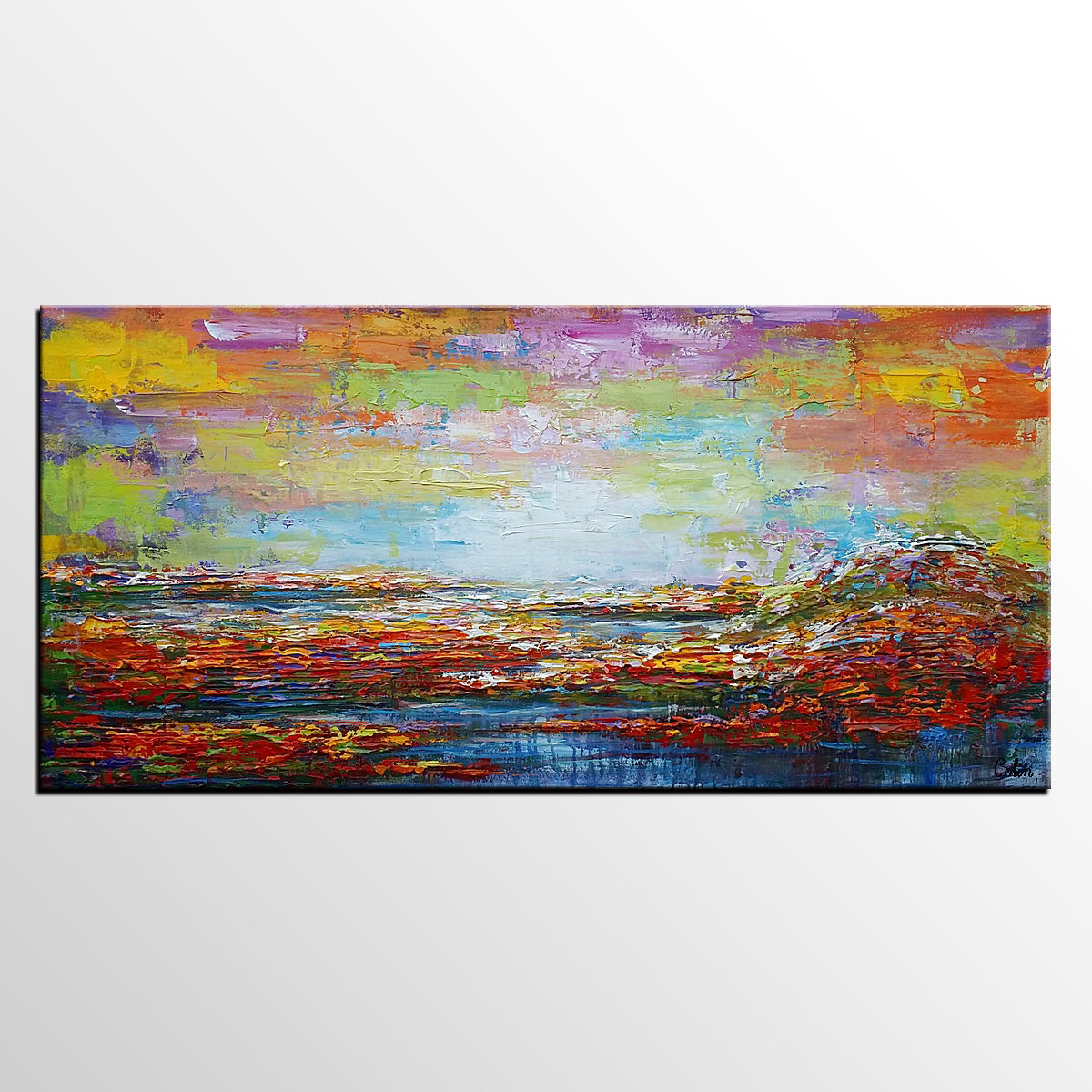 Wall Hanging, Abstract Art, Landscape Paint...